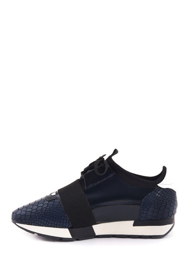 %100 Deri Bağcıklı Spor Ayakkabı-Mocassini